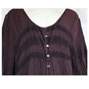 Indigo Thread Co. Tops - Plus-Size Rayon Gauze Boho Hippie Top Size 3X